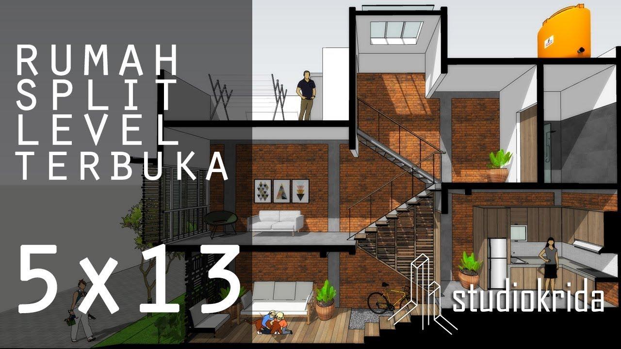 Rumah Split Level Terbuka Di 5x13 M2 Youtube