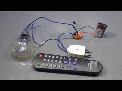 How To Make Remote Control On Off Light Switch _ Diy Electronic Projects