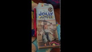 instructions on how to put baby in and do up the jolly jumper original with clips and ties