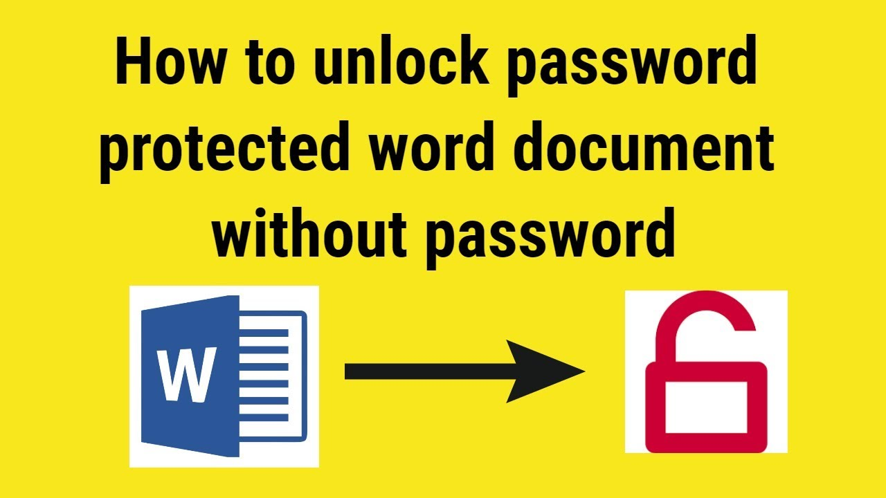 Free ms word password remover