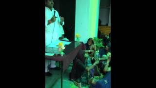 Ramlal Jat- MLA - Bhilwara addressing people of MEJA for Cheque Vitran