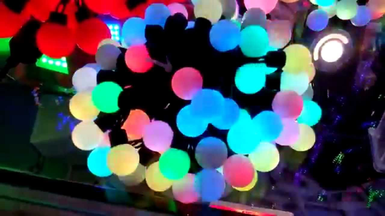 Led Fairy Lights Colour Changing Rgb Ball String Lights By