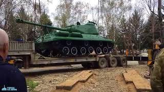 Установка танка в сквере Биробиджана по ул. Пионерская, 17