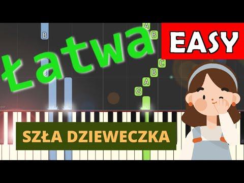 🎹 Szła dzieweczka - Piano Tutorial (łatwa wersja) 🎹