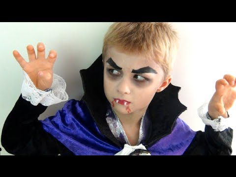 easy last minute halloween makeup tutorial dracula vampire youtube. Black Bedroom Furniture Sets. Home Design Ideas