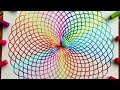 Drawing rainbow pattern without using Spirograph