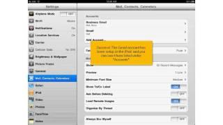 Hoe stel ik mijn e-mail in Gmail in op mijn iPad?