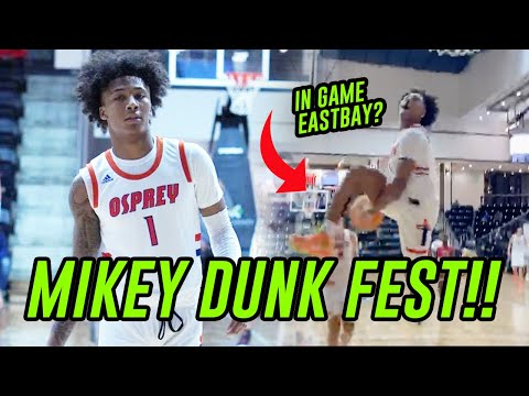 Mikey Williams Puts On DUNK SHOW In Front Of His FAVORITE RAPPER! Throws Down IN GAME EASTBAY!? 😱