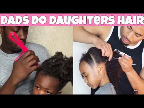 Dads do Daughters Hair | Cute hairstyles For Kids Compilation
