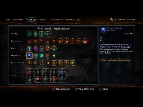 Neverwinter MOD 16 DPS warlock Single target Build