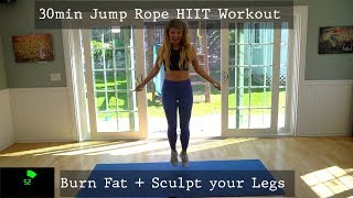 Jump Rope HIIT 30min Lower Body Leg Home Workout