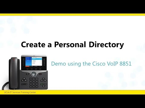 voip self provisioning saving personal directory youtube