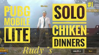 PUBG MOBILE LITE SOLO CHIKEN DINNERS BY SSK£RUDY...