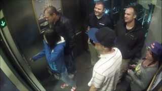 Greatest Elevator Prank! #2 Epic Hidden Camera Liquid Ass