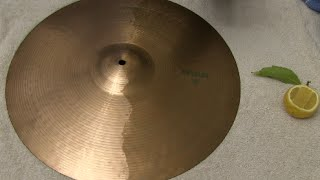 Cleaning A Cymbal With A Lemon - Does It Work? Life Hack for Drummers