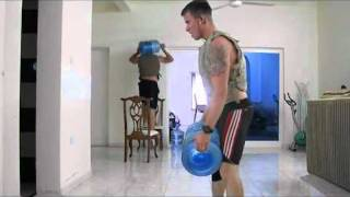 crossfit workout - water jugs from hell