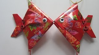 Repeat youtube video CNY TUTORIAL NO. 28 - Small Red Packet (Hongbao) Fish