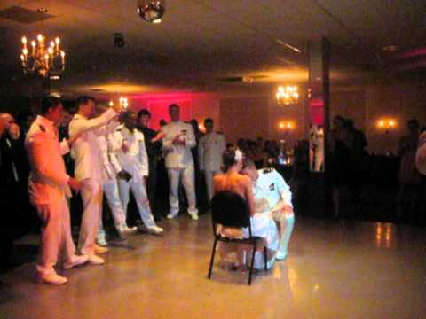 Navy Wedding Top Gun Style 'You've Lost that Lovin' Feeling' Reception Serenade