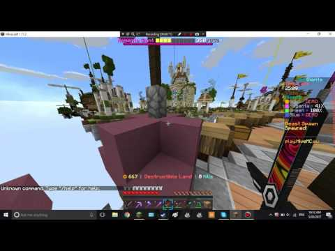 Minecraft skywars - The Hive - I CAUGHT A HACKER FLYING?!?!?!?