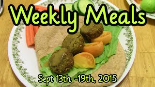 Weekly Meals September 13th-18th, 2015