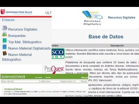 UCV - Acceso Recursos Y Bibliotecas Digitales
