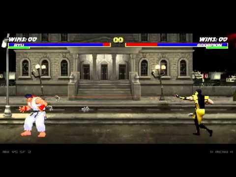 Mortal Kombat vs Street Fighter 2 (Ryu vs Scorpion) - HQ-