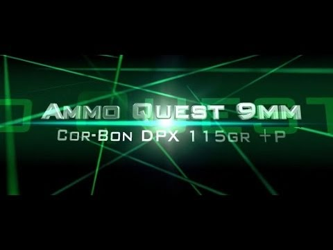 Ammo Quest 9mm: Cor®Bon CorBon DPX® 115-grain +P tested in ballistic gelatin test review