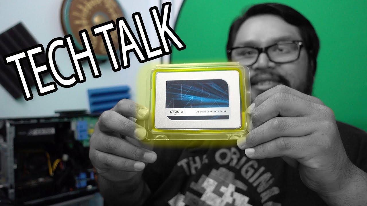 Crucial MX500 1TB SSD CT1000MX500SSD1Z Tech Talk | vLog #95 2018