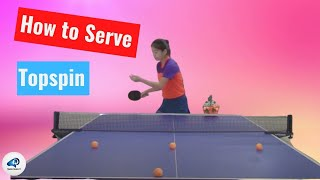 How to  serve topspin——Yangyang's table tennis lessons