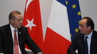 Fransa Cumhurbaşkanı Hollande ile Görüştü