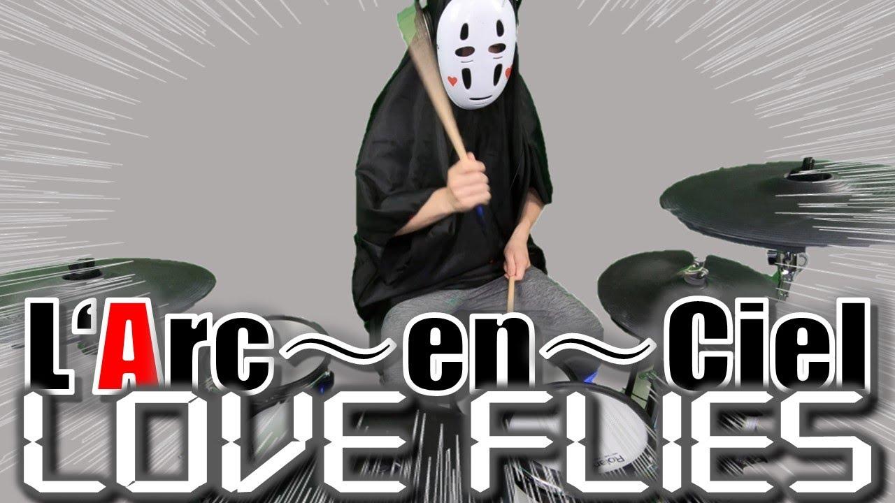 【ラルクアンシエル/L'Arc~en~Ciel】「LOVE FLIES」をカオナシがドラム叩いてみたらこうなった Drums Cover!!