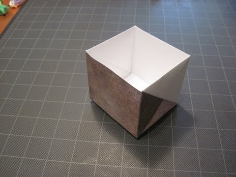 Origami box from Letter size paper