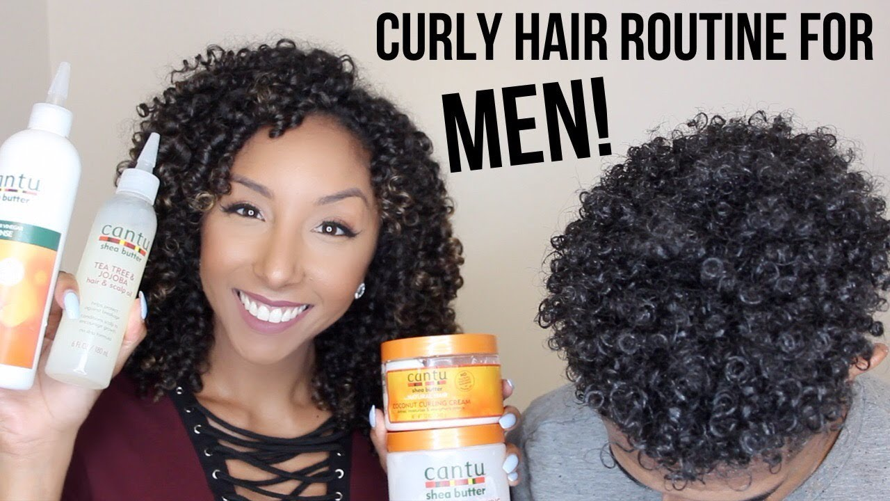af27a1d83df Curly Hair Routine For MEN! Using Cantu Products