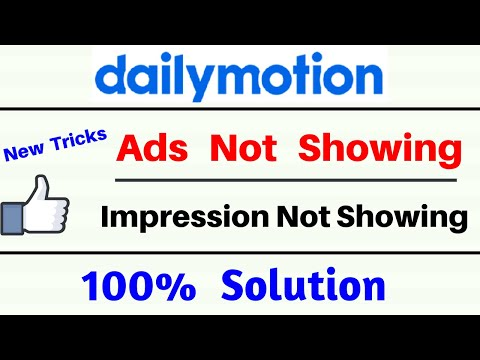 dailymotion ads not showing live | how to fix dailymotion ads not showing