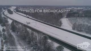 1-17-2018 Charlotte, NC - Aerial snow scenes and highway