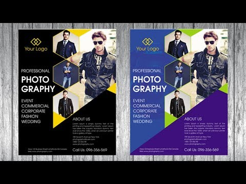 Photography Flayer Design | Corel Draw X7  Tutorials