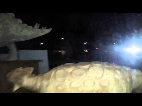 Mt. Blanco Fossil Co Dinosaur Museum - Tour of the Outside at Night (Crosbyton, Texas)