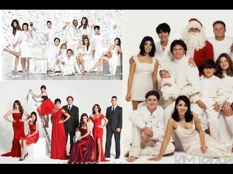 kardashian christmas cards over the years - Kardashians Christmas Photos