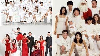 Kardashian Christmas Cards over the years