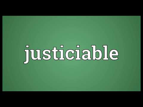 Header of justiciable