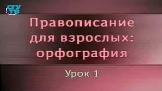 Русский язык. Урок 1. Принципы русской орфографии. Правила переноса слов