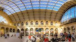 A Walk Around Gare de l' Est (Train Station), Paris