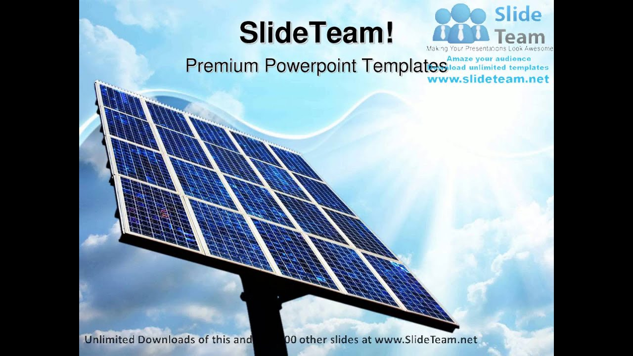 solar power panel technology powerpoint templates themes and
