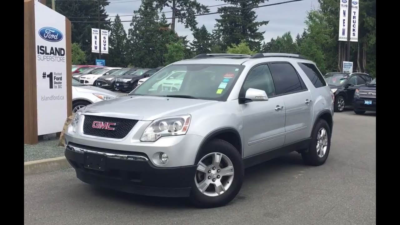 2012 GMC Acadia SLE, Backup Camera, Park Assist, Sun Roof Review |Island  Ford