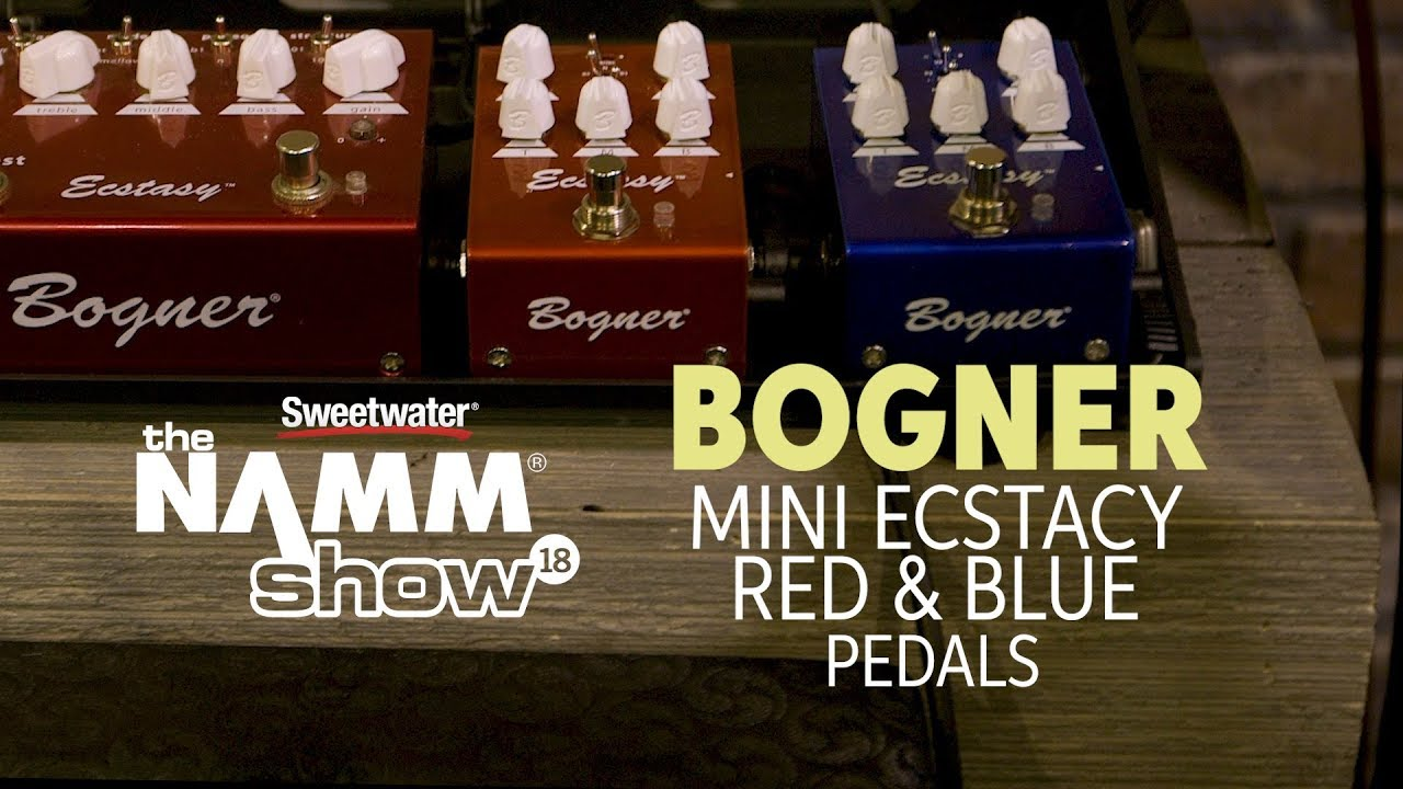 detailed images lowest price newest collection Bogner Mini Ecstasy Red & Blue Overdrive Pedals at Winter NAMM 2018