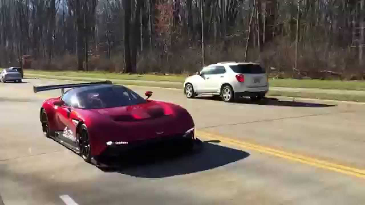 aston martin vulcan on the streets - youtube