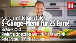 🔴 Johann Lafer zaubert dir das perfekte 3-Gänge-Menü in Corona-Zeiten