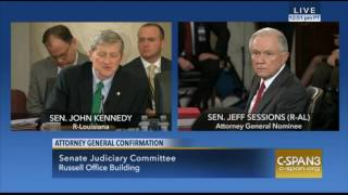 Louisana Sen John Kennedy Exchange With Sen Sessions During AG Confirmation Hearings