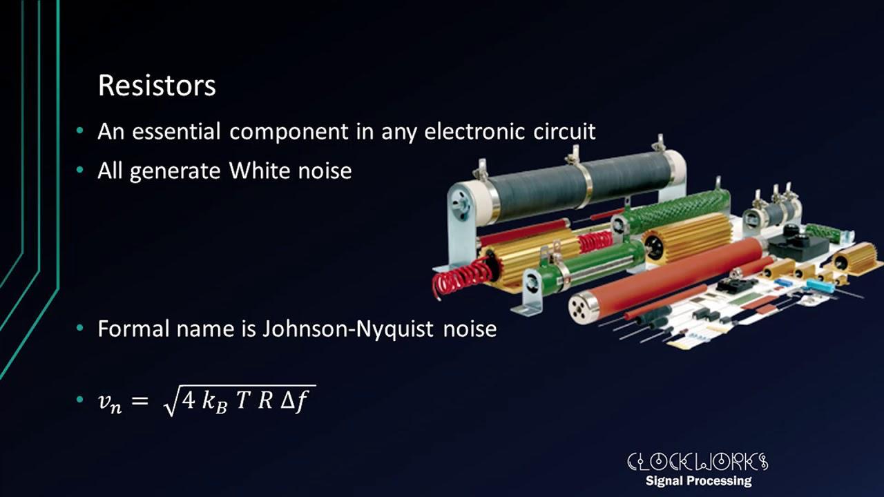 Resistor Johnson and flicker noise
