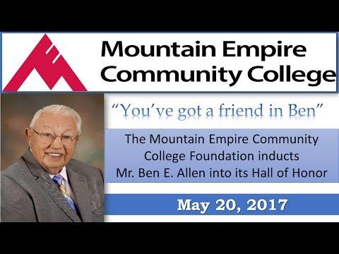 Mountain Empire Community College Gala - Honors Ben Allen - 5-20-17